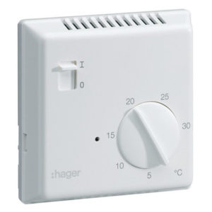 thermostat analogique fil pilote hager